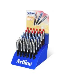 36-Piece Artline Mechanical Pencil 0.7mm with Built-in Eraser, Assorted Colors