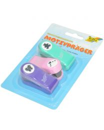 3-Piece Folia Mini Craft Punches Teddy/Hearts/Butterfly
