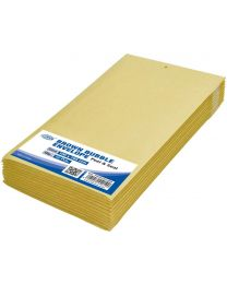 Brown Bubble Envelopes, Peel and Seal, Pack 12 Pieces, 100X165mm Size