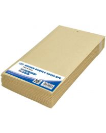 Brown Bubble Envelopes, Peel and Seal, Pack 12 Pieces, 120X215mm Size