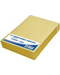 Brown Bubble Envelopes, Peel and Seal, Pack 12 Pieces, 180X265mm Size