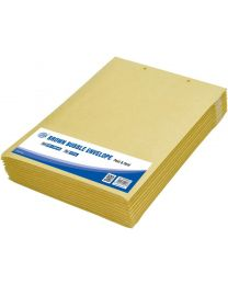 Brown Bubble Envelopes, Peel and Seal, Pack 12 Pieces, 240x340mm Size