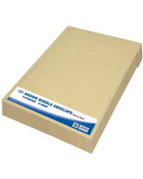 Brown Bubble Envelopes, Peel and Seal, Pack 12 Pieces, 270X360mm Size