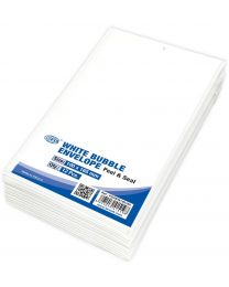 White Bubble Envelopes, Peel and Seal, Pack 12 Pieces, 100X165mm Size