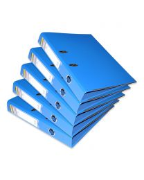 10-Piece FIS PP Box File with Fixed Mechanism, 4cm Spine, F/S Size,  Blue Color