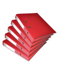 10-Piece FIS PP Box File with Fixed Mechanism, 4cm Spine, F/S Size, Maroon Color