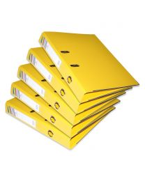 10-Piece FIS PP Box File with Fixed Mechanism, 4cm Spine, F/S Size, Yellow Color