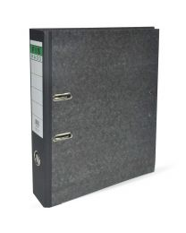 Lever Arch Files Grey Marble with Slide-In Plate & Fixed 2 Holes Puncher, Size of Spine is 8cm, F/S (210 x 330mm)