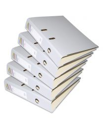 10-Piece FIS PP Box File with Fixed Mechanism, 8cm Spine, F/S Size, Grey Color