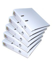 10-Piece FIS PP Box File with Fixed Mechanism, 8cm Spine, F/S Size, White Color