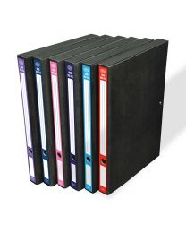 Rigid Box Files with Wire Clip Assorted Colors Set of 6 Pieces, 212mm x 335mm x 22mm
