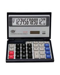 Check & Correct Calculator 12 Digits, Foldable