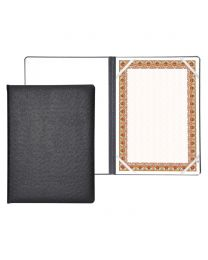 Italian PU Certificate Folders with A4 Certificate and Gift Box