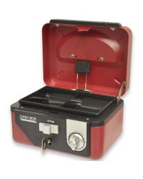 Cash Box Steel Red Color With Number / Key lock , 152 x 115 x 80mm, 6 Inch Lock Size