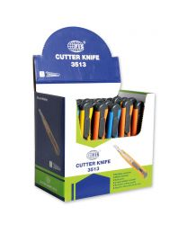 Cutters, Pack of 24 pieces, 9mm Size, Assorted Colors