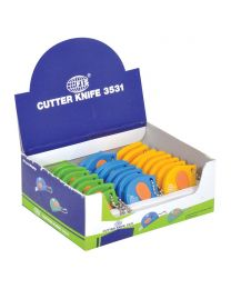 Kraft Cutters With Key Chain, Pack of 24 pieces, Assorted Colors