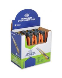 Heavy Duty Cutters, Pack of 12 pieces, 18mm Size, Assorted Colors