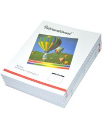 International Exercise Books 10mm Square, (Pack of 10 Pcs x 160 Pages) A4 Size
