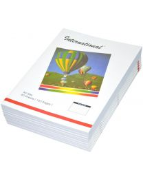 International Exercise Books, Single Ruled with Left Margin, (Pack of 10 Pcs x 160 Pages) A4 Size