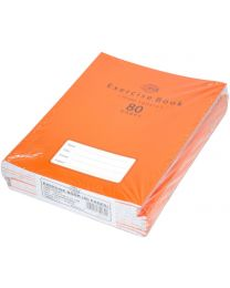 Exercise Books 10mm Square with Left Margin, (Pack of 12 Pcs x 80 Pages) 16.5 x 21 cm Size