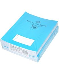 Exercise Books 15mm Square with Left Margin, (Pack of 12 Pcs x 100 Pages) 16.5 x 21 cm Size