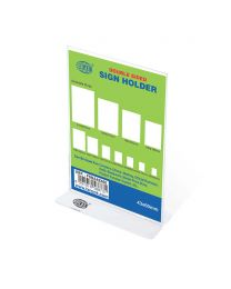 Sign Holders Vertical Double Sided Upright, 43 x 60mm Size
