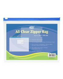 Clear Zipper Bags With Zipper Closure, A5 Size