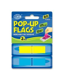 Pop-Up Flag Index, 80 Sheets, 2 Colors, 12 x 45mm Size