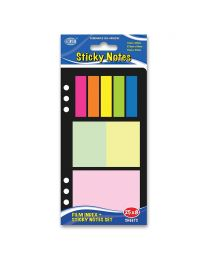 Film Index Sets, 200 Sheets, 8 Colors, 5 x 12 x 45 , 2 x 37.5 x 50mm and 1 x 75 x 50mm Size