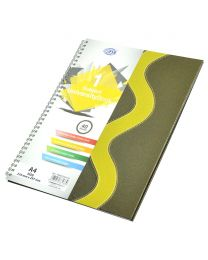 Spiral Hard Cover University Books, 40 Sheets, 1 Subject, A4 Size