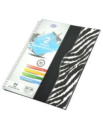 Spiral Hard Cover University Books, 80 Sheets, 2 Subject, A4 Size