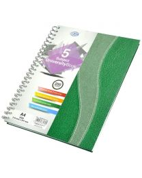 Spiral Hard Cover University Books, 200 Sheets, 5 Subject, A4 Size