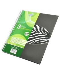 Spiral Hard Cover University Books, 120 Sheets, 3 Subject, A4 Size