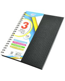 Italian PU Spiral Cover University Books, 120 Sheets, 3 Subject, 8.5 x 11 Inch Size