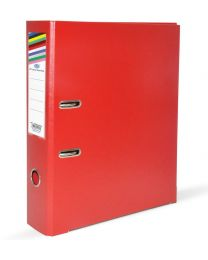 PP Lever Arch Files with Slide-In Plate Red Color, Size of Spine is 8cm, A4 (210 X 297 mm)