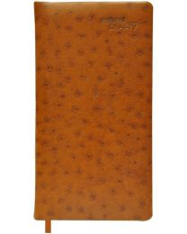 Undated Diary Slim Padded Cover With Gilded Edges Brown Color