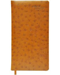 Undated Diary Slim Padded Cover With Gilded Edges Light Brown Color