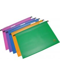 PP Hanging Files with Indicator Pack of 5 Pcs. Assorted Colors, 260 x 365 mm Size