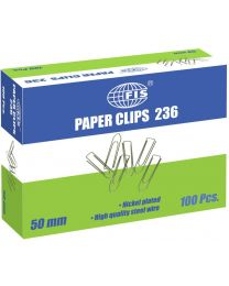 Paper Clips Boat Shape, Pack of 100 Pcs, 50 mm Size