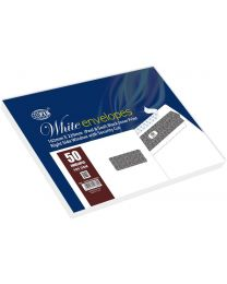 White Envelope Peel & Seal, Right Window, Security Cut, Inner Print, Pack of 50 Pcs. C5 (162 X 229 mm), 100 GSM