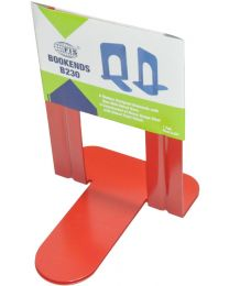 Bookends Metal Body, Pack of 2 Pieces, Red Color, 8.25 Inch (190 x 152 x 210 mm) Size
