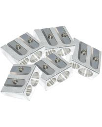 Metal Sharpeners 2 Hole, V shape, Pack of 20 Pieces