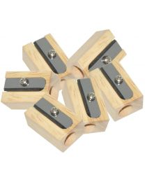 Wooden Sharpeners 1 Hole, Pack of 20 Pieces