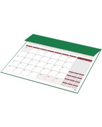 2019 Year Planner with PVC Desk Blotter (English / French) Green Color