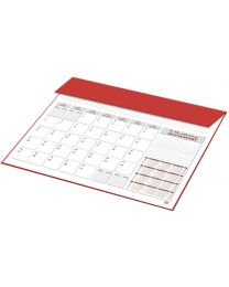 2019 Year Planner with PVC Desk Blotter (Arabic / English) Red Color