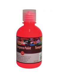 Artmate Tempera Fluorescent Red Color, 250 ml
