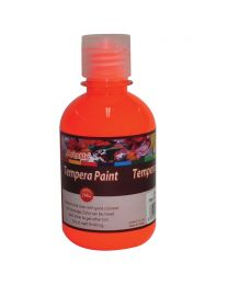 Artmate Tempera Fluorescent Orange Color, 250 ml