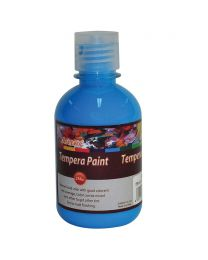 Artmate Tempera Fluorescent Blue Color, 250 ml