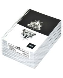 Light Spiral Soft Cover Notebook Single Line (Pack of 10 Pcs X 100 Sheets) 10X8 Inch Size