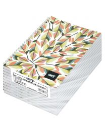 Light Spiral Soft Cover Notebook Single Line (Pack of 10 Pcs X 100 Sheets) 9X7 Inch Size